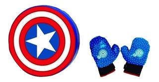 Avengers Super Set Guantes De Boxeo Y Escudo Capitan America