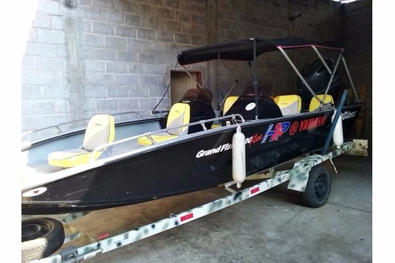 Barco Grand Fish Metal Glass 6.0 M Com Motor Yamaha 115 Hp