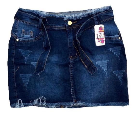 Mini Saia Jeans Feminina