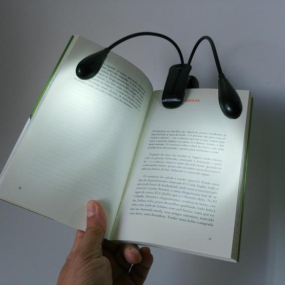 Luz Leitura 2 Hastes Led Nova Imp Legítima Alta Qualid Disp