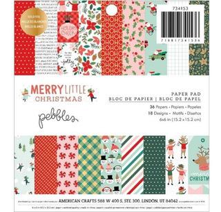 36 Hojas Papel Decorado Navidad Santa Regalos Scrapbook 6x6