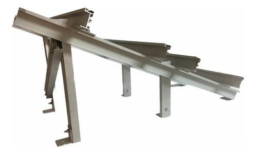Imagen 1 de 3 de Kit Estructura / Base Para Paneles Solares 4x2, 25 Grados
