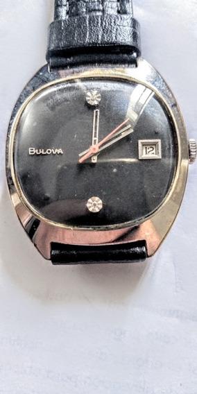 Bulova Antigo Relógio Suíço Masculino De Pulso,corda Manual