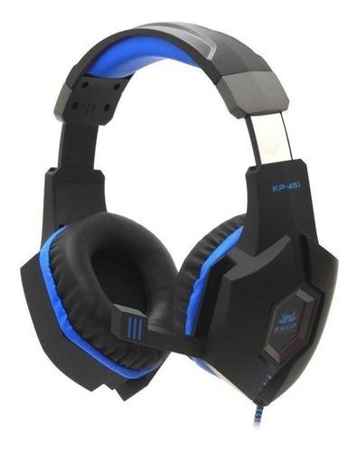 Fone de ouvido gamer Knup KP-451 black e blue