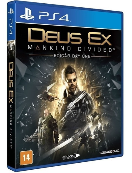 Jogo Deus Ex Mankind Divided Ps4 Midia Fisica Novo Original
