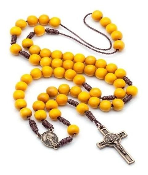 Kit 5 Terços Acampamento De Oração Amarelo No Cordão 957
