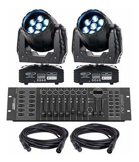 Eliminator Stealth Wash Led Moving Head 2-pack Iluminaci ©