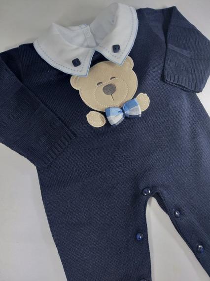 Macacão De Linha Menino Azul Marinho Urso
