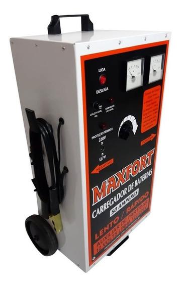 Carregador De Bateria 50a 2 Relogios Voltímetro /amperimetro