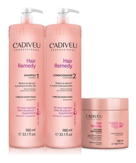 Cadiveu Hair Remedy Kit Tratamento Profissional 3 Produtos