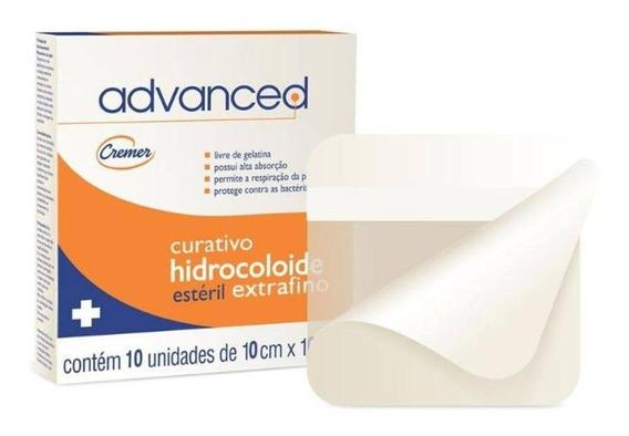 Curativo Hidrocolóide Advanced 10x10cm Ex.fino C/10un Cremer