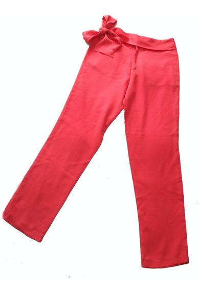 Pantalón De Tencel Rojo Con Lazo Brooksfield