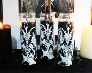 Veladora Negra Baphomet + Inciensos Negros Satanismo