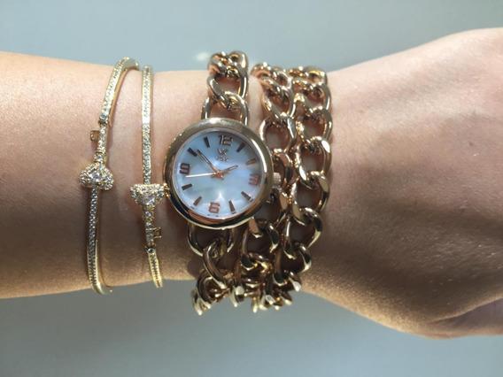 Relógio Feminino Vox Georgia Dourado