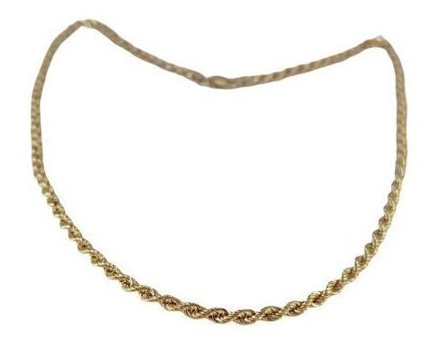 Colar Cordão Corda Especial 40cm Ouro 18k - 2660