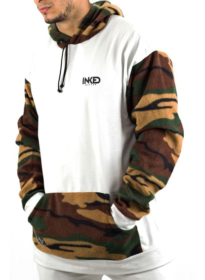 Sweater Sudaderas Inked Blanco Camuflado Detal Mayor