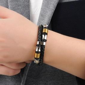 Pulseira Couro Masculino Feminino Bracelete Promoção