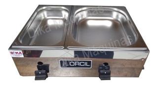 Molheira De Mesa Inox Com 2 Cubas C/ Exclusivo 2 Queimadores