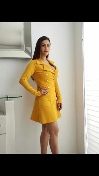 Vestido Casual   Gabardina Dama   Ideal Para Tu Posada
