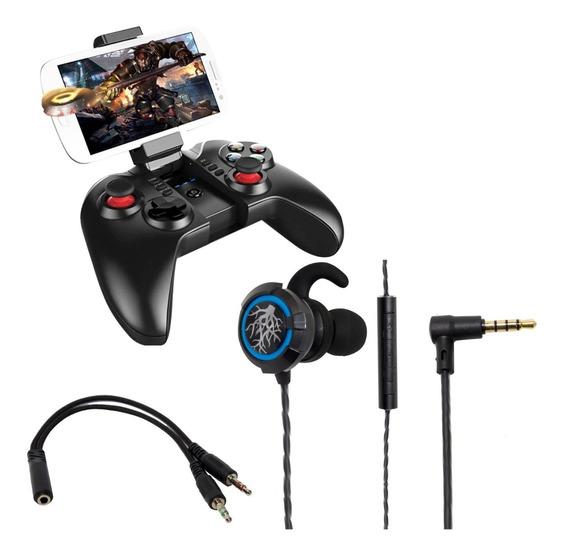 Kit Gamer Headset 7.1 Hd E Controle Joystick Ipega 9068 Hz51