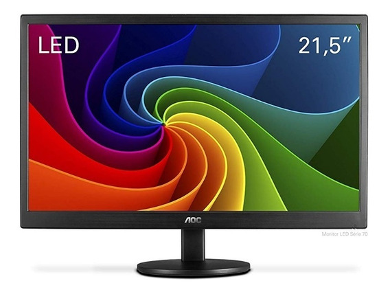 Monitor Aoc Led 21,5 E2270swn Preto