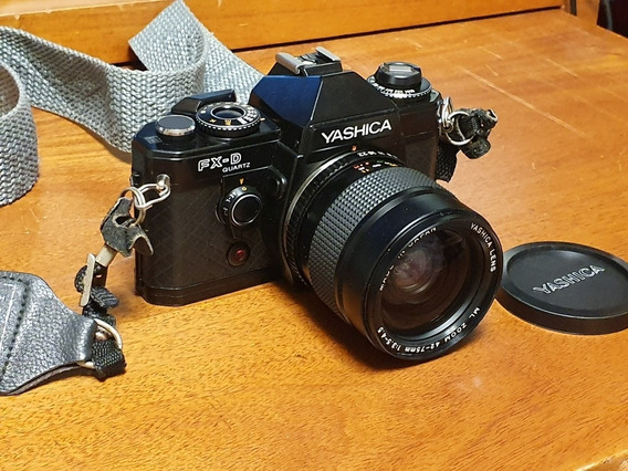 Câmera Yashika Fx-d Único Dono Com Caixa E Manual Revisada