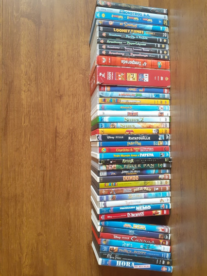 40 Dvds De Clássicos Da Animação Infantis