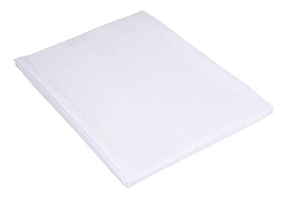 Lençol Teka King Branco Com Elástico Percal 180 Fios - Madri