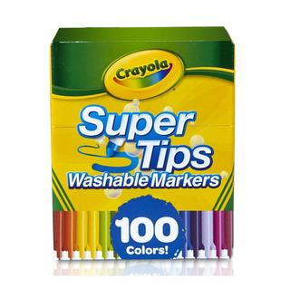 Plumones Crayola 100 Pzas Super Tips Lavables Markers *full