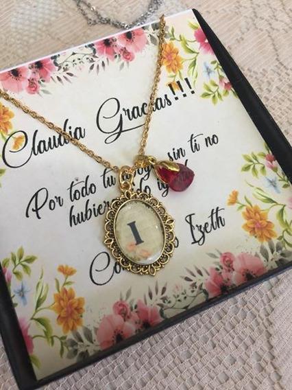 Dije Camafeo Personalizado Con Nombre Chapa De Oro