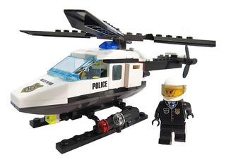 Juguete Helicoptero Tipo Lego Kazi 102 Bloques Construir
