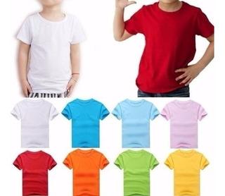 Camisas Infanto Juvenil - Fio 30. -100% Algodão Varias Cores