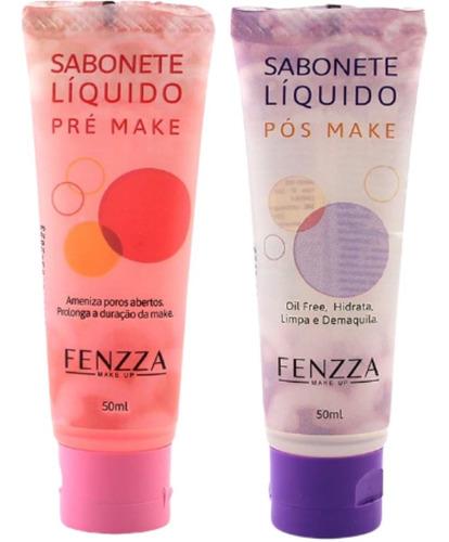Imagem 1 de 8 de Kit Sabonetes Fenzza Pré + Pós Maquiagem Limpa Hidrata