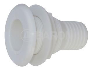 Toma Pasacasco Plástico Blanco Para Manguera De 38mm (1-1/2)