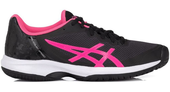 Tênis Asics Gel Court Speed Preto Rosa - Quadra Rápida