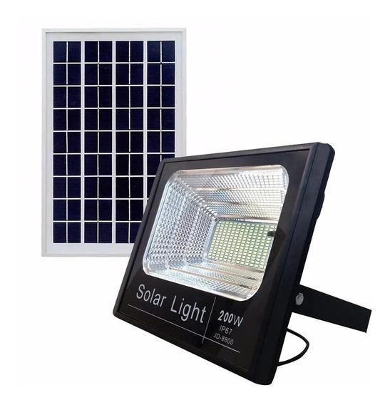 Refletor Solar Slim Holofote 80w + Placa Solar Prova Dágua