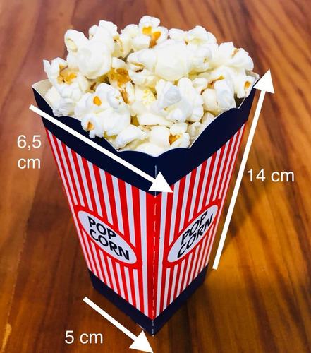 Imagem 1 de 8 de 20 Caixa Para Pipoca  Aniversario Circo Festa Infantil Azul