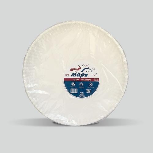 Plato De Cartón Redondo N°8 Mapi® Biodegradable Pizza Grande