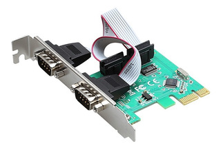 Tarjeta Pci Express 1x 2 Puertos Serial Db9 Rs232 Windows 10