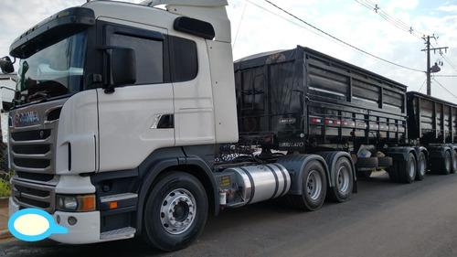 Imagem 1 de 15 de Scania R440 6x4 Conjunto Bicaçamba Librellato