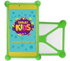 Tablet Branco Wifi Kids Infantil Dl Com Capa + Cartão 16gb