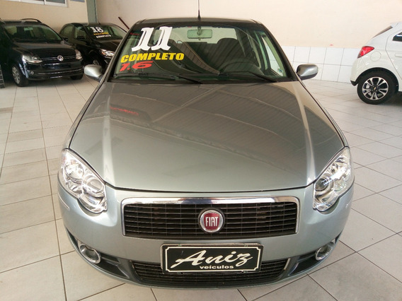 Fiat Siena Essence 1.6 Completo 2011 Cinza