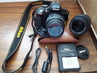 Camara Digital Nikon 3300 Con Dos Lentes