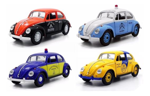 Coleção Volkswagen 4 Fusca 1967 Policia Sp Rj Telesp 1:24