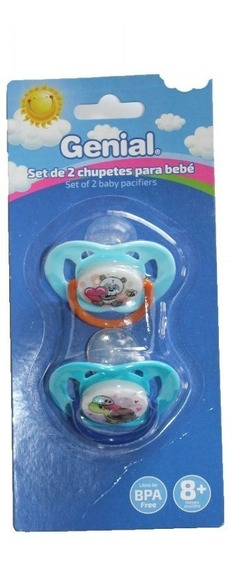 Chupones 2 Unidades Para Bebe Genial