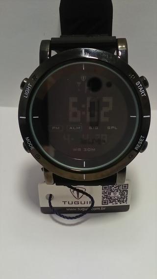 Relógio Masculino Preto Barato Tuguir Digital Tg6017 Preto