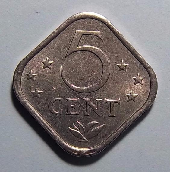Antillas Holandesas 5 Cent 1975 Km 13 Moneda Cuadrada
