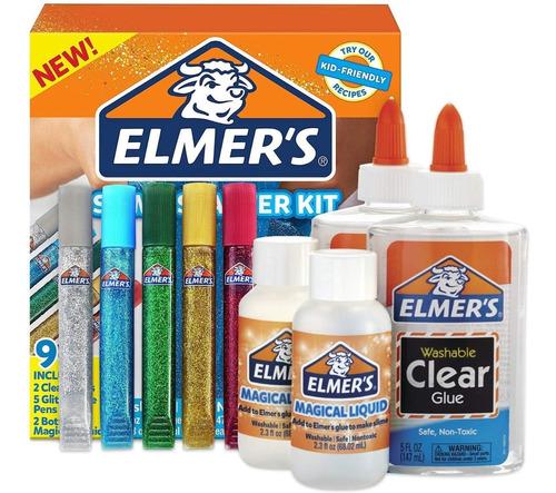 Kit Elmers Slime Principiante Cascolas Glitter