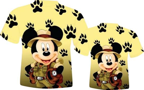 Blusa Pai E Filho - Mickey Safári 1