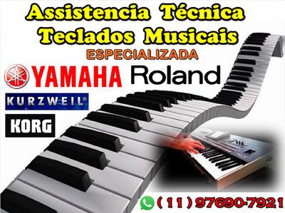 Assistência Conserto Serviço Reparo Teclado Yamaha Korg Etc!